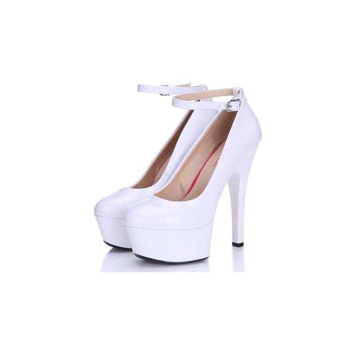 Flyrcx Primavera E Autunno Le Donne Sexy Personalità Del Mondo Della Moda Di Temperamento Tacco Sottili Tacchi Alti Singola Calzatura Scarpe Partito 37 bianco