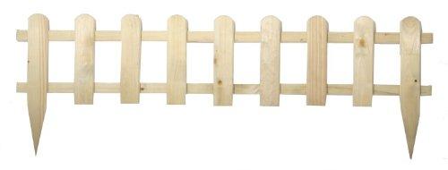 10x Steckzaun 115 X 25cm Gartenzaun Holz Zaun Garten Beet Lattenzaun