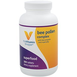 The Vitamin Shoppe Bee Pollen Complex 1,000MG, Superfood with Bee Propolis and Royal Jelly, Seasonal Immune System Support (300 Tablets)