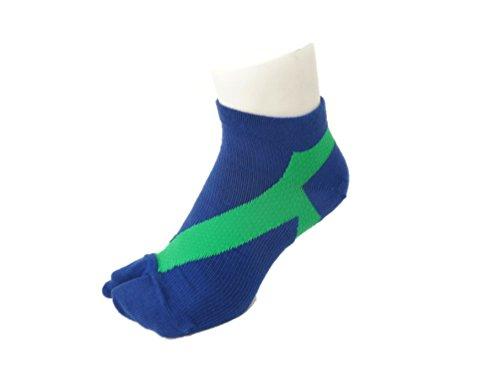 葡萄ご意見白内障さとう式 フレクサーソックス アンクル 紺緑 (S) 足袋型
