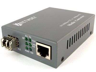 Fast Ethernet Fiber Media Converter - UTP to 100Base-FX - LC Multimode, 2km, ... by Networx