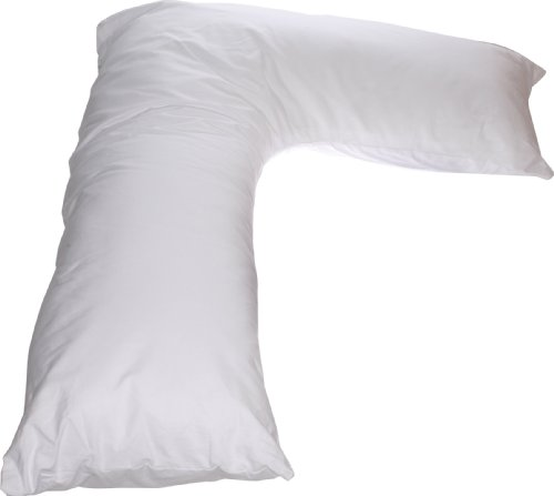 Deluxe Comfort L Side Sleeper Pillow White - Long L Body ...