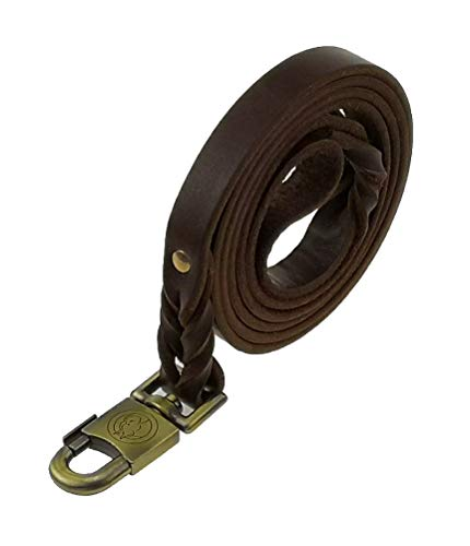 teck Leather Heavy Leash Large