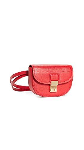3.1 Phillip Lim Women's Pashli Mini Saddle Belt Bag, Red, One ()