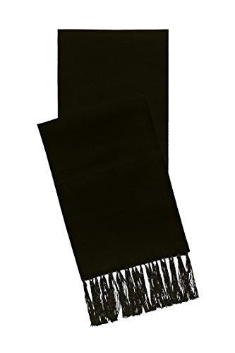 Satin Formal Scarf - Available in Black or White (Black) by S.H. Churchill & Co.