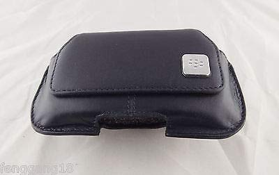 FidgetGear 1pcs Black Leather Swivel Belt Clip Holster Pouch Case for BlackBerry Curve 8520