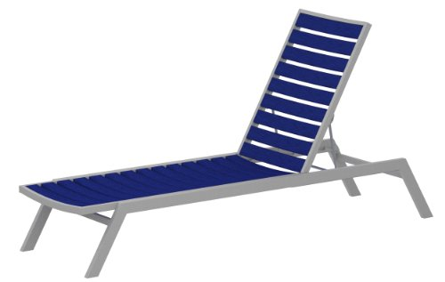 ro Chaise, Textured Silver/Pacific Blue (Contemporary Euro Style Seating)