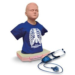 PAT Basicᴺ Pediatric Auscultation Manikin Trainer with Wi-fi® SimscopeTM - Dark Skin
