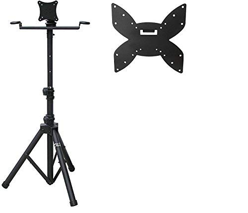 (Audio 2000S AST421Y Portable Flat Screen Panel LCD LED TV Monitor Stand with Foldable Tripod Legs, Including a 200 X 200 mm Standard VESA Mounting Plate with M6 Screws)