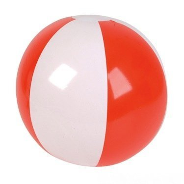 (16'' Red & White Patriotic Beach Ball Inflate (Set of)