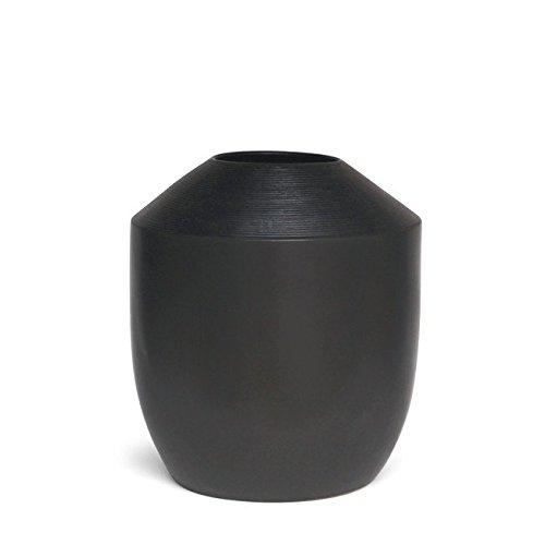 "Hosley's Inscribo Vase, 14.5"" High, Black. Dramatic Large..."