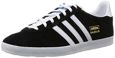 adidas Originals Gazelle OG, Unisex-Erwachsene Sneakers Black White FV1