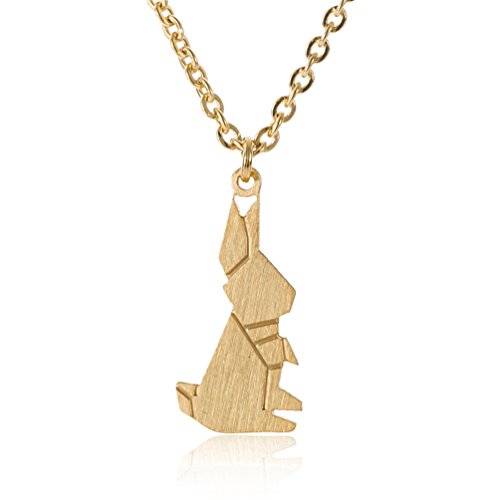 Gold Rabbit (Bunny Pendant Necklace Best Friend Gifts - Charm for Girls Stainless Steel Gold Color, 16