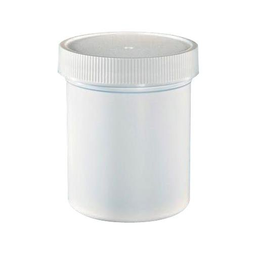 ULINE S-14506B-W Wide-Mouth Jars with White Cap, Polypropylene, 4 oz., White (Pack of 400) (Polypropylene Jars)