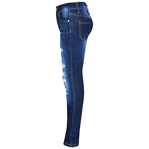 Kids Girls Skinny Jeans Denim Ripped Stretchy Pants Jeggings New Age 3-13 Years 3
