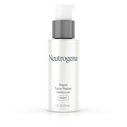 Neutrogena Rapid Tone Repair Night Cream with Retinol, Vitamin C and Hyaluronic Acid - Anti Wrinkle Face and Neck Moisturizer - Vitamin C, Retinol, Glycerin, Hyaluronic Acid,  1 fl. oz (Best Otc Dark Spot Corrector)