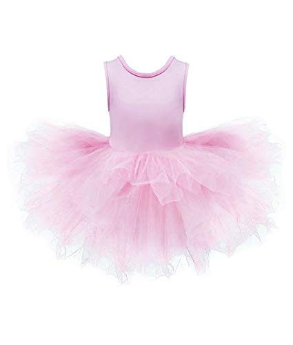 Ballerina Pink Dress - DHASIUE Girls Fluffy Layers Tulle Tutu Skirt Ballet Dance Dress Up Skirt 2-9 Years (03 Pink, 4-5 Years)