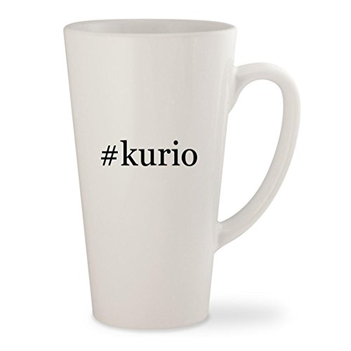 Price comparison product image kurio - White Hashtag 17oz Ceramic Latte Mug Cup