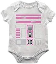 Body Bebê R2d2 Rosa