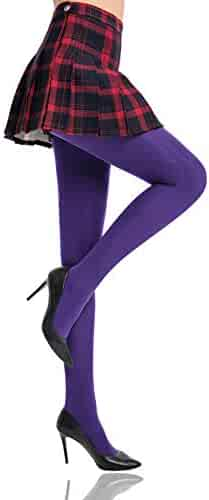 9b357387ac035 HONENNA Women's Control Top High Elastic Soft Opaque Pantyhose Tights