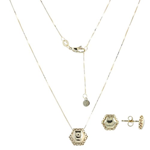 14kt gold ''Hexagon'' jewelry set - Gioiello Italiano by Gioiello Italiano