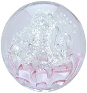 hecho a mano Sue/ño Globe pisapapeles de tama/ño grande flor blanca en blancos