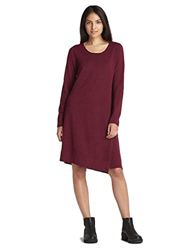 Eileen Fisher Merino Jersey Jewel Neck Dress Passion Flower (Merino Jewel Neck)