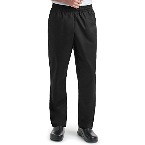 Unisex Chef Baggy Pants/Elastic Waistband With Tapered Leg/2 Side Pockets and 2 Back Pockets (S-2X) (X-Large)