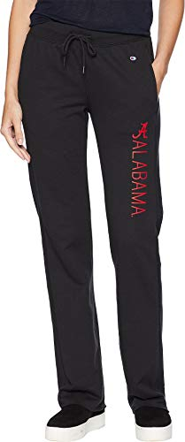 - Champion College Women's Alabama Crimson Tide University Fleece Open Bottom Pants Black Large 31