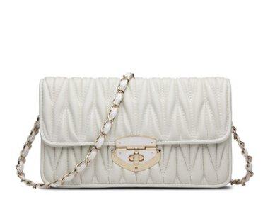 Talentote 2015 Summer Genuine Leather Lambskin Shoulder Bag Cross Body Bag Clutch Wallet Ttc-l-1086 (white)