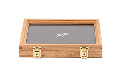 Oak Wooden Box Gift Knife - Two Timbers Display Case Oak 2