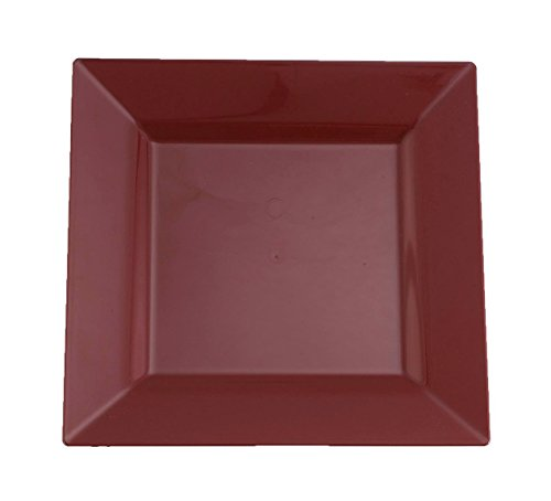 Kaya Collection - Brick Red Plastic Square 9.5