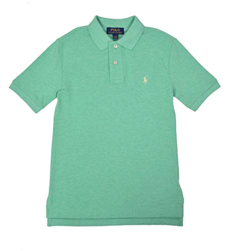 Polo Ralph Lauren Big Kids Boys Mesh Cotton Pique Polo Shirt Green (Small (8) ()