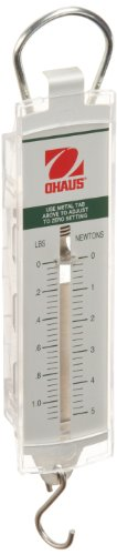 Ohaus 8002-PN Pull Type Spring Scale, 1.12lb/5n Capacity, 0.04lb/0.2n Readability
