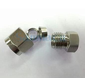 Thread Specification: 3//8 Xucus Stainless Steel Pipe and Two Ferrule Tube Fitting 304 SS Pipe Straight Fitting