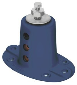 7-1/2''H 1/2''Dia Screw 750Lb Cap Floor Mount Seismic & Wind Vibration Isolator by MASON INDUSTRIES INC