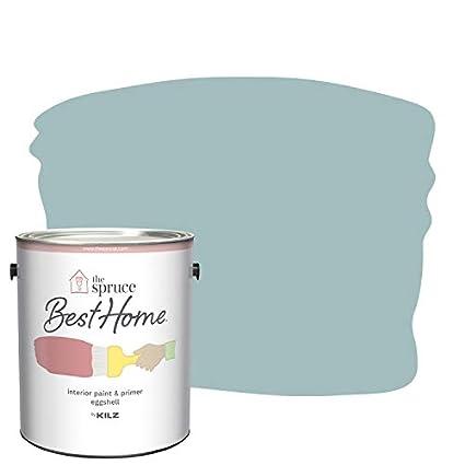 The Spruce Best Home by KILZ 15121001 Interior Eggshell Paint & Primer in  One, 1 Gallon, SPR-12 Breezy Beach