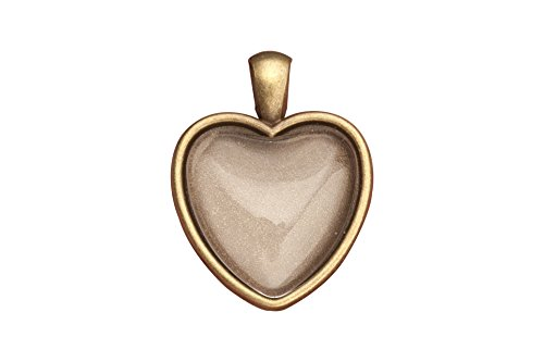 - www.Beadingsupplys.com picture locket necklace heart antiqued brass locket pendant photo cover 6 counts