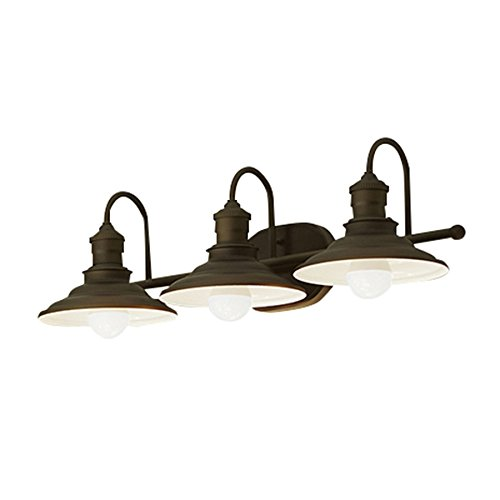 allen + roth Hainsbrook 3 Light Aged Bronze Bathroom Vani...