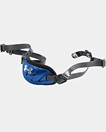 New Under Armour Gameday Armour Pro Chinstrap Black /& Silver Adult Size