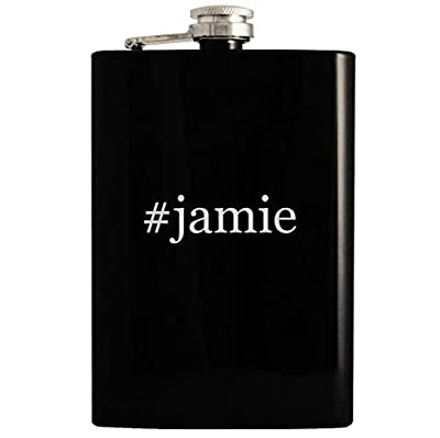 #jamie - 8oz Hashtag Hip Drinking Alcohol Flask, Black