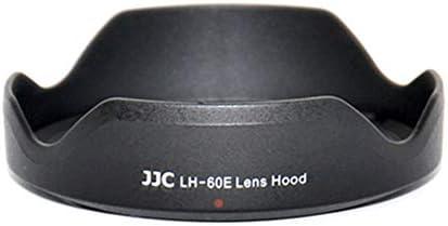 AdaAda EW-60E Lens Hood Lotus Shape Lens Hood Cap Light Shading Cover for Canon Black