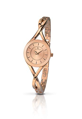Accurist Womens Watch with Rose Gold Bracelet 8137