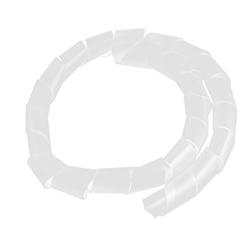 eDealMax Reliure spirale Cordon Wrap fil Tidy Cble protecteur 1 Mtres Blanc
