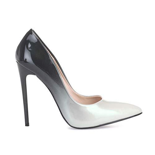 La Sintético Vestir De Zapatos Mujer Modeuse 50606 Gris awraz