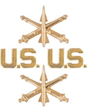 Artillery (Pair) (ADA) and US Officer (Pair) NO SHINE ()