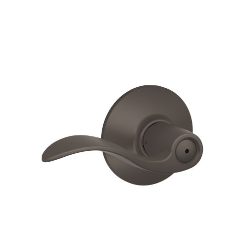 Schlage F40ACC613 Accent F40 Flat Wave Reversible Non-Handed Door Lever Lockset, Solid, Oil Rubbed - Privacy Lever Set Accent