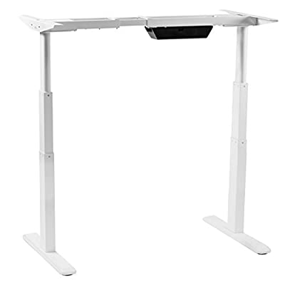 Mount-It! Mobile Stand Up Desk/Height Adjustable Computer Work Station Rolling Presentation Cart (MI-7940) by Mount-It!