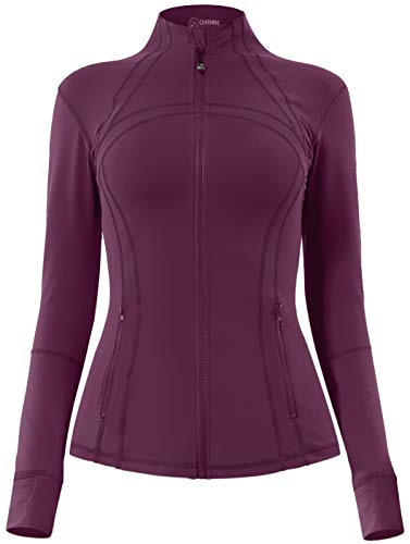 QUEENIEKE Women's Sports Define Jacket Slim Fit and Cottony-Soft Handfeel Size XL Color Rose Red
