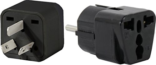 US to ARGENTINA Travel Adapter Plug for USA/Universal to South America Type I & E (C/F) AC Power Plugs Pack of 2